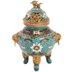 Chinese Cloisonne Censer