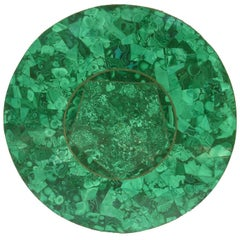 Vintage Green Malachite Specimen Round Table Top