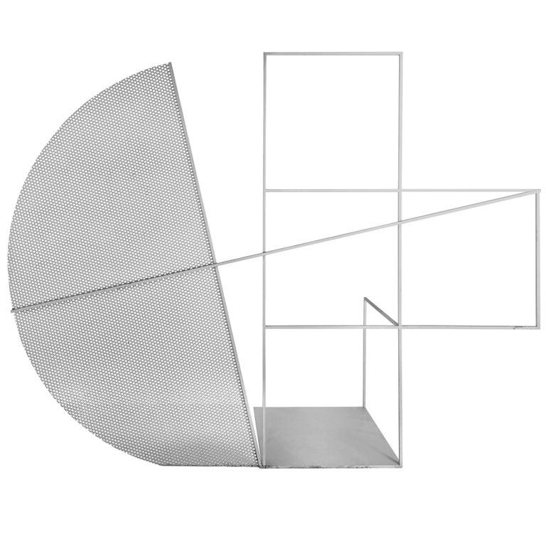 Jacques Toussaint Steel Geometric Sculpture