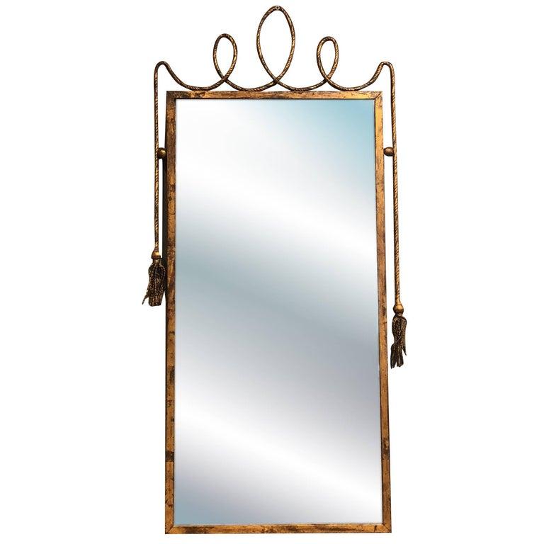Mid Century Modern Stilnovo Style Wall Mirror For