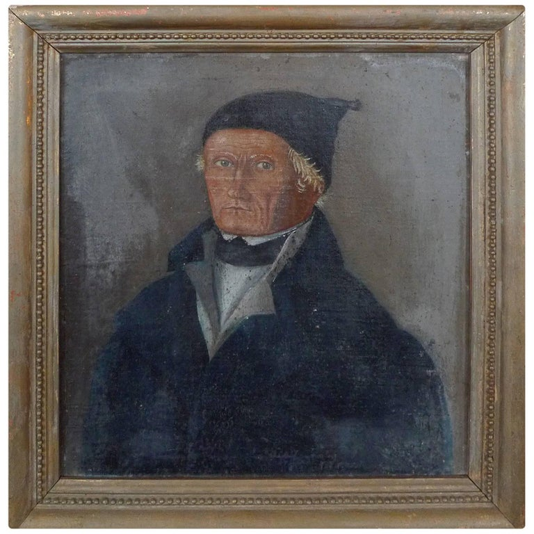 French, 19th Century Portrait Painting of a Professional Gentleman