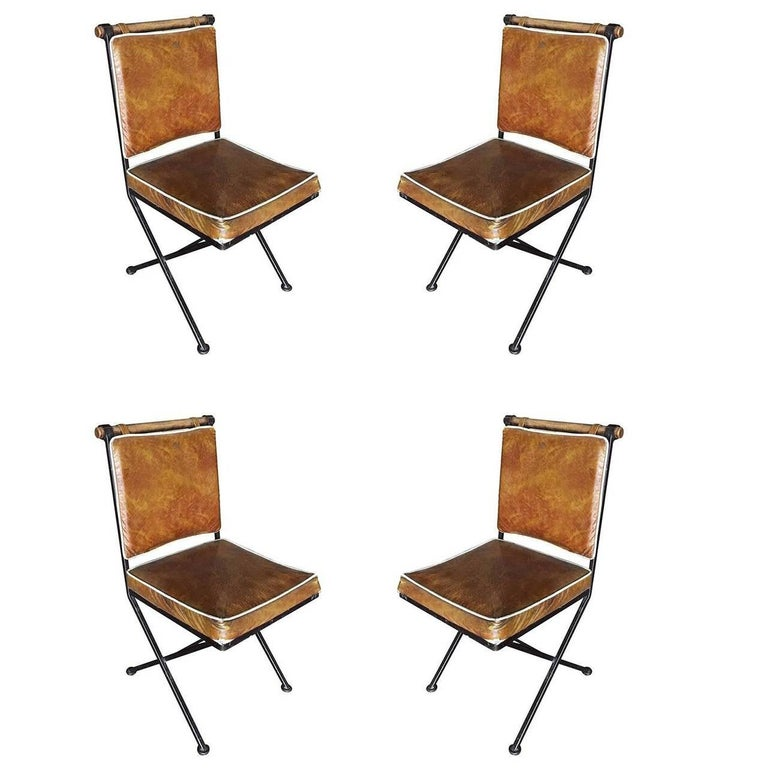 """Set of Four Mid-Century """"Directors Chair"""" Dining Chairs by Cleo Baldon"""