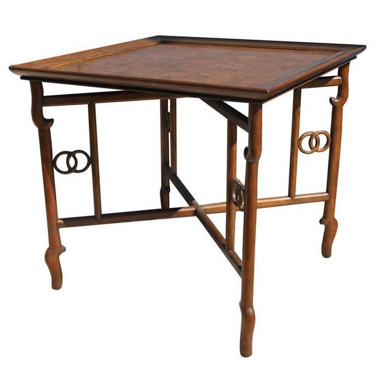 Vintage Baker Collector's Edition Burl Side Table For Sale
