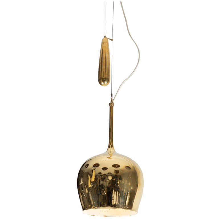 1950s Paavo Tynell A1957 Counterweight Pendant