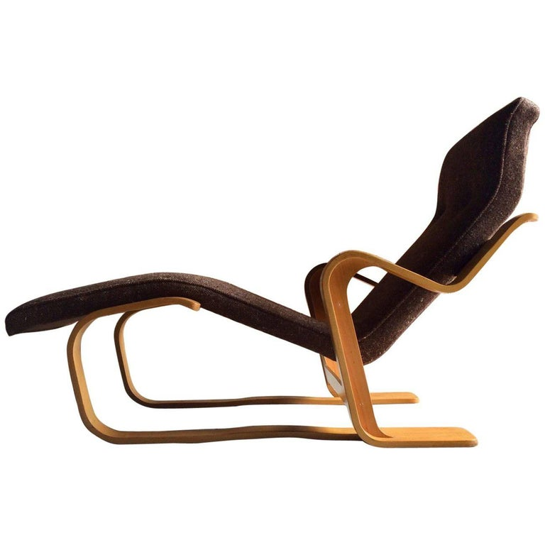 Marcel Breuer Long Chair Chaise Longue Isokon, 1970s