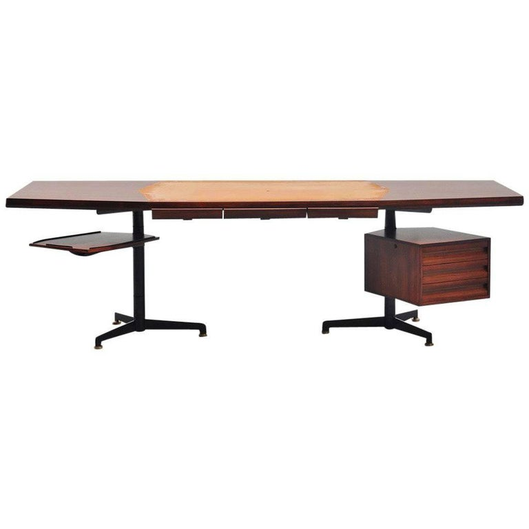 Osvaldo Borsani Conference Desk Table Tecno, Italy, 1954