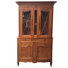 19th Century French Fruitwood Buffet a Deux Corps
