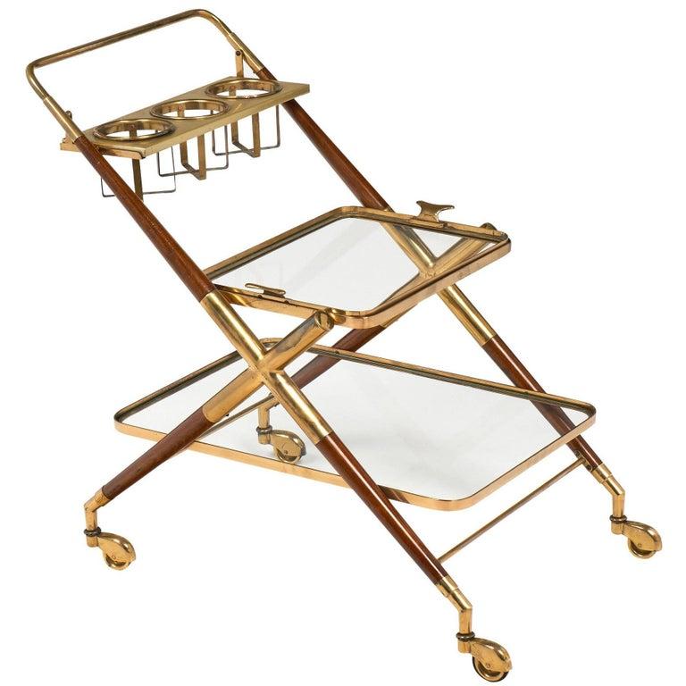 Cesare Lacca Italian Vintage Bar Cart