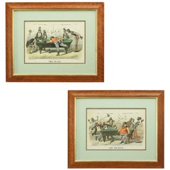 Pair of Currier & Ives Billiard Prints