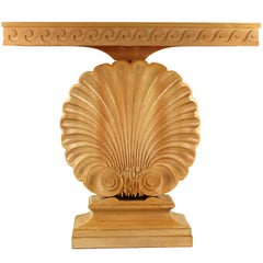 Edward Wormley for Dunbar Shell Console Table in Bleached Mahogany