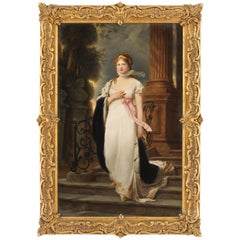 19th Century KPM Porcelain Plaque of the Queen of Prussia