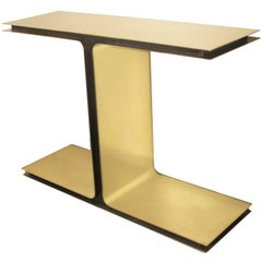Contemporary Console, Brass and Metal Structure by Michele Notte, 2014