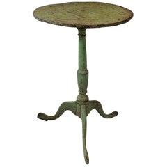 English George III Green Painted Tripod Table, circa 1800