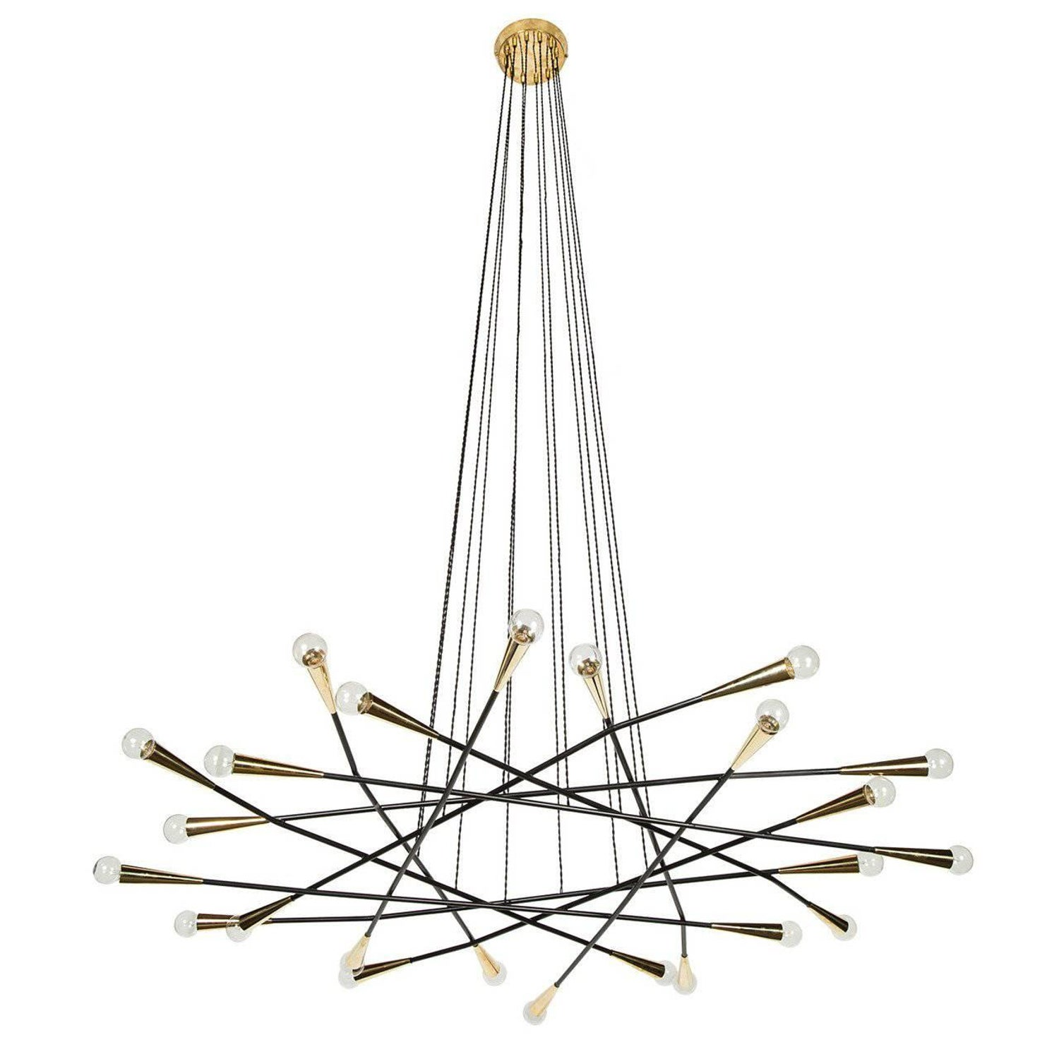 Rewire Custom Orb Chandelier For Sale at 1stdibs