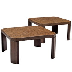 Pair of Side Tables in Wenge