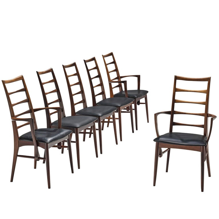 Niels Koefoed Set of Six Rosewood Dining Chairs