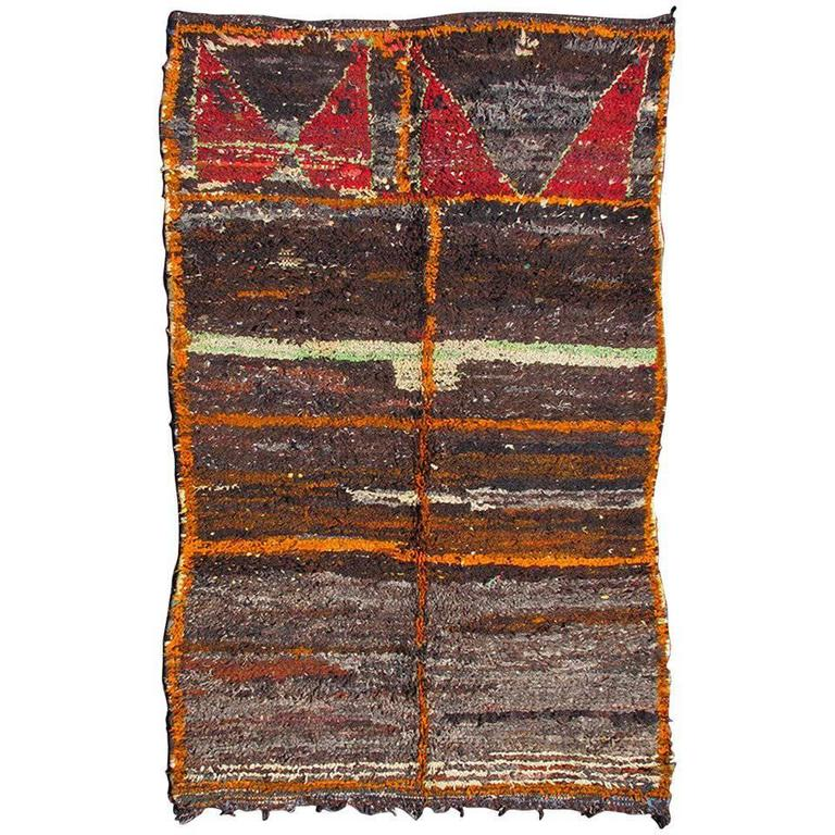 Large Moroccan Boucherouite Rag Rug For Sale At 1stdibs