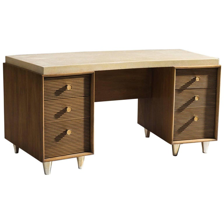 Paul T. Frankl Cork Desk for Johnson Furniture Company, circa 1950