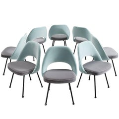 Customizable Eero Saarinen Set of Eight Dining Chairs for Knoll International