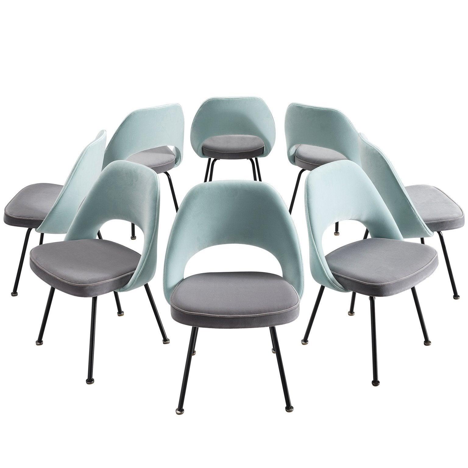 Customizable Eero Saarinen Set of Eight Dining Chairs for Knoll International