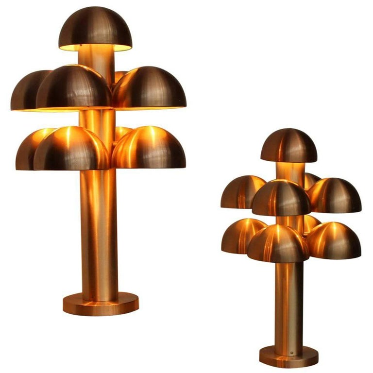 "Maija Liisa Komulainen for RAAK Amsterdam Pair of Table Lamps ""Cantharelle"" For Sale"