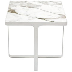 Cage White Side Table by Gordon Guillaumier