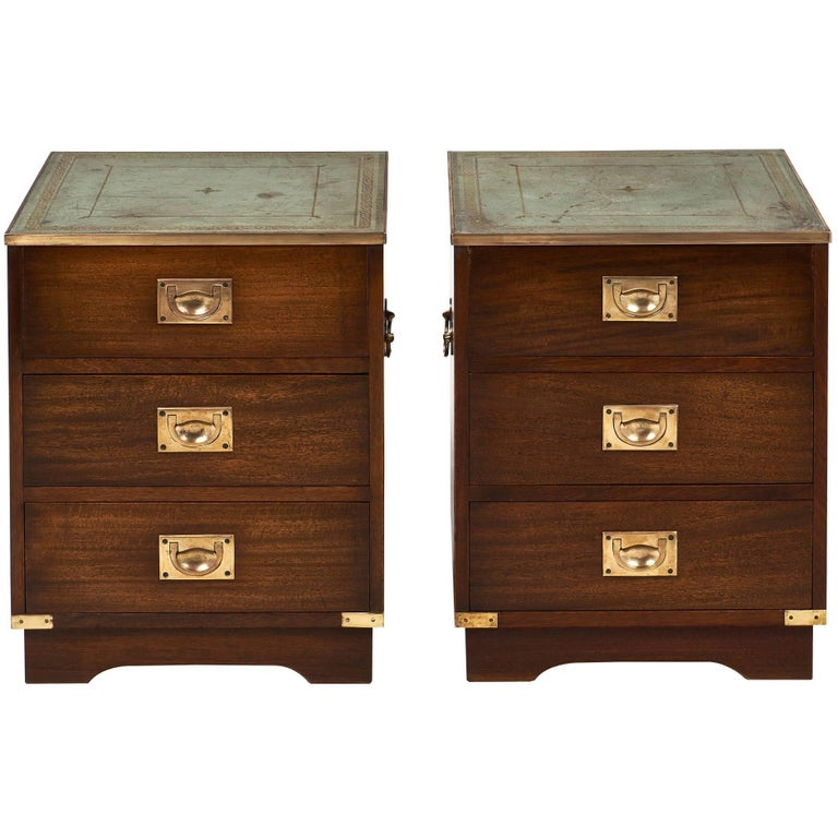 Campaign Vintage Chest Side Tables