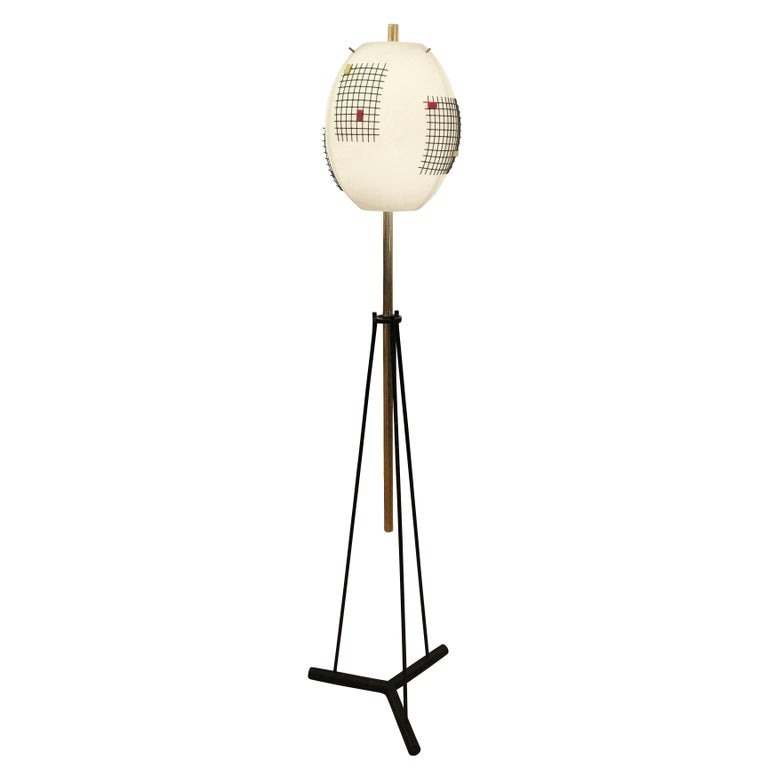 Rare Floor Lamp by Angelo Lelli for Arredoluce