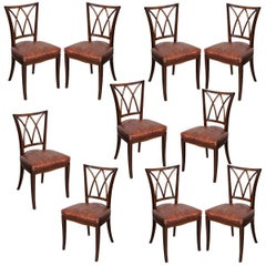 Set of Ten 19th Century English Mahogany Dining Chairs