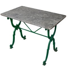 French Early 20th Century Marble Top Garden Table