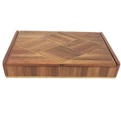 Jean Michel Frank Large Straw French Marquetry Box, 1930s