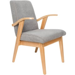 Vintage Gray Armchair by Mieczyslaw Puchala, 1960s