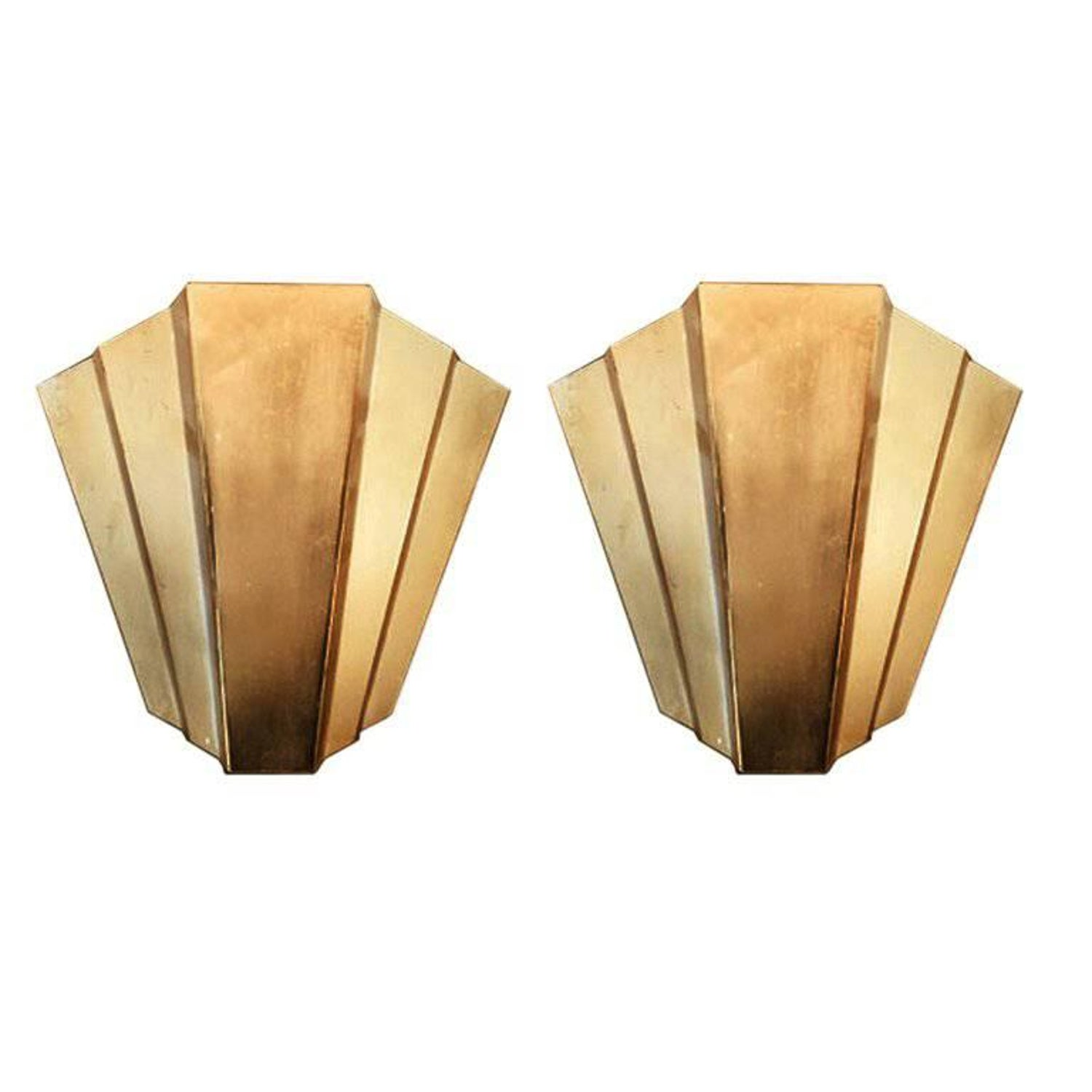Art Deco Slip Shade Wall Sconces, 1920s-1930s For Sale at 1stdibs