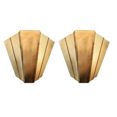 Art Deco French Sconces, 1930s