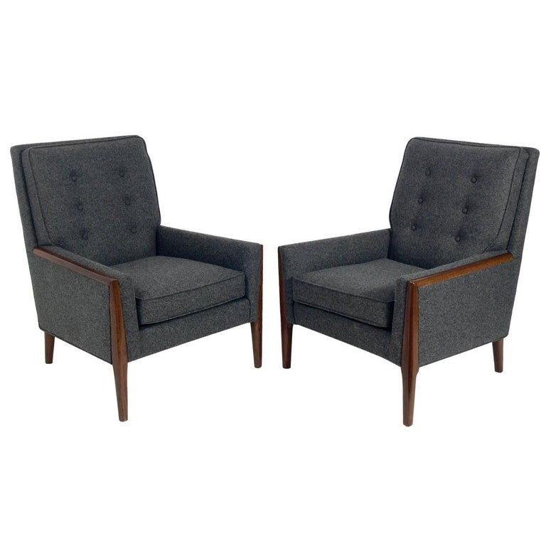 Pair of Modern Lounge Chairs in the Style of T.H. Robsjohn-Gibbings
