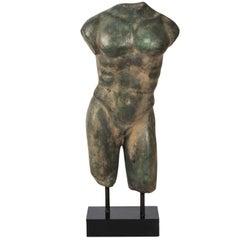 Bronze Torso of Greek Athlete