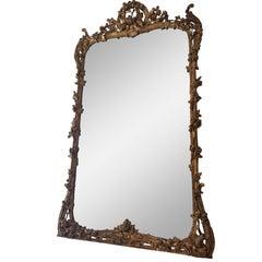 Louis XV Style Gilded Mirror, circa 1860s