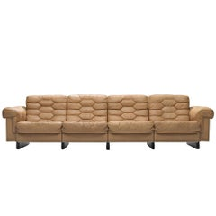 De Sede Four-Seat Leather Cognac Sofa