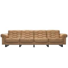 De Sede Four-Seat Leather Cognac Sofa