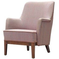 Danish Pink Armchair with Rosewood