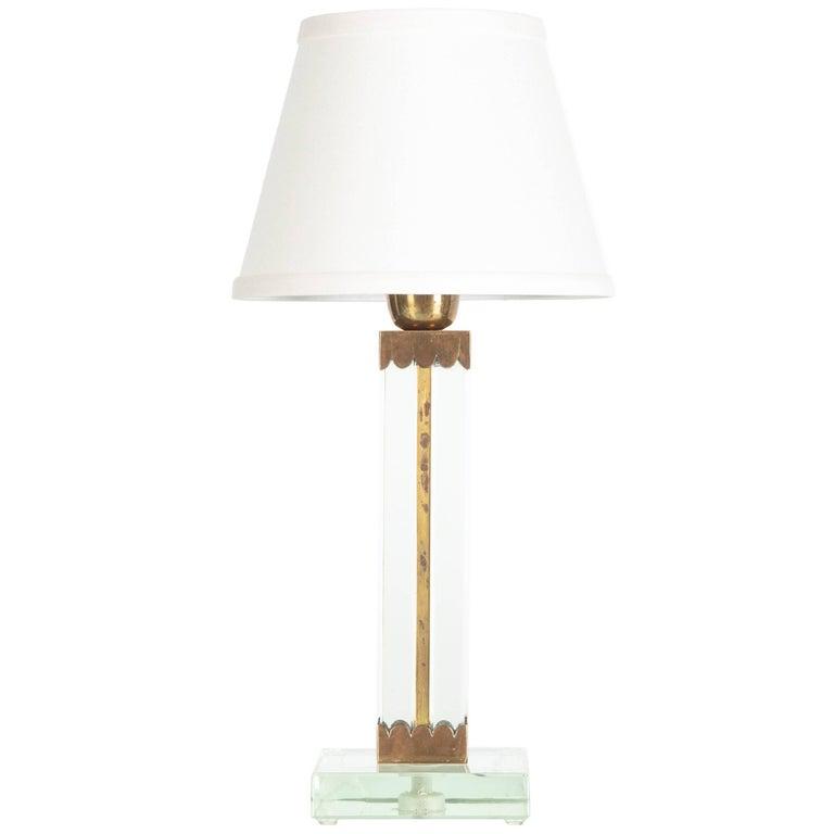 Small Crystal Table Lamp  by Arturo Pani