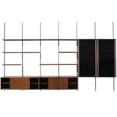 Large Osvaldo Borsani Wall Unit for Tecno, 1950s