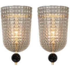 Murano Glass Art Deco Style Sconces