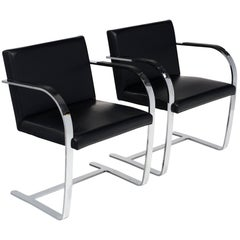 Pair of Mies van der Rohe Style Brno Armchairs