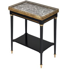 Ebonized Louis XVI Style Side Table