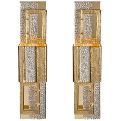 Murano Glass Geometric Gold Sconces