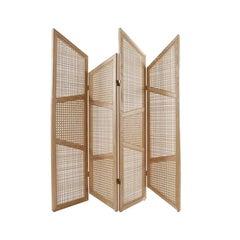 Nada Debs Summerland Paravan/Screen/Partition, Ashwood, Straw, Midcentury Design