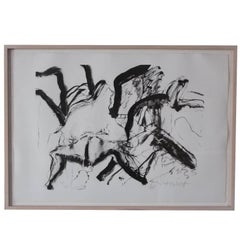 "Willem de Kooning Lithograph ""Woman on Clearwater Beach"""