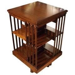 Superb 19th Century Mahogany Revolving Bookcase
