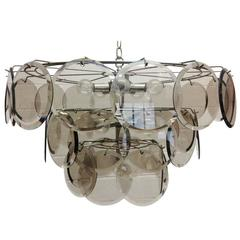 Italian, Gino Vistosi 36 Disc Chandelier for Murano